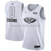 Maillot NBA Pas Cher New Orleans Pelicans DeMarcus Cousins 0# White 2018 All Star Game Swingman..